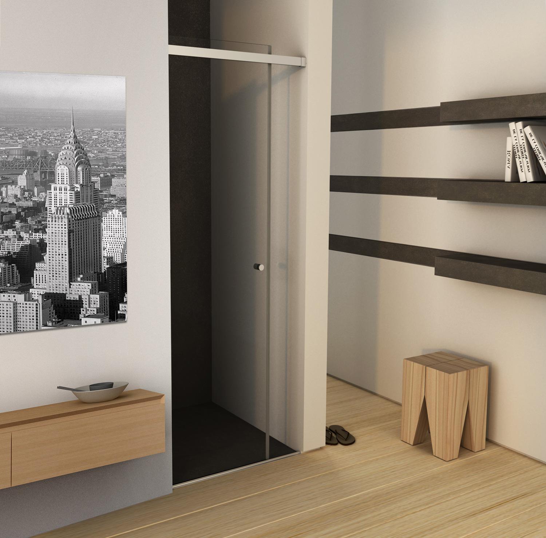 mampara de ducha estilo minimalista