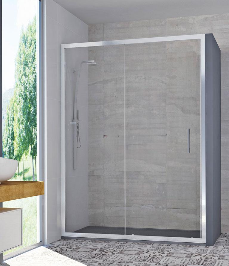 Mamparas de ducha con gu a de aluminio serie solid spazia - Guia de aluminio ...