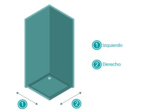 Cómo medir una mampara angular para tu ducha