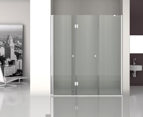 Mampara de ducha con sistema antical