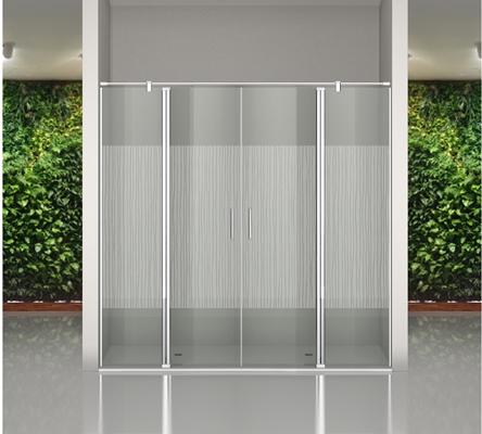 Mampara de vidrio templado decorado