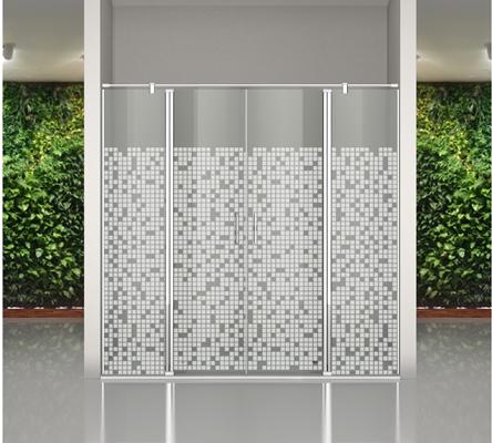 Mampara para ducha de puertas abatibles
