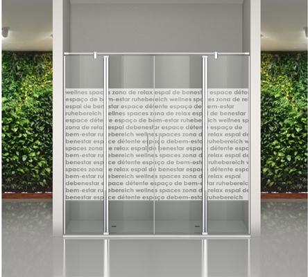 Mampara decorada con impresión digital en vidrio