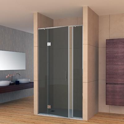 Plato de ducha con mampara en vidrio negro