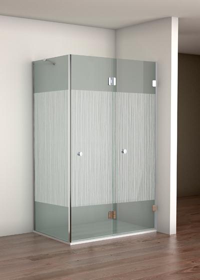 Mampara de vidrio esquinera para plato de ducha