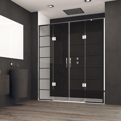 Mampara con puerta solapada para ducha