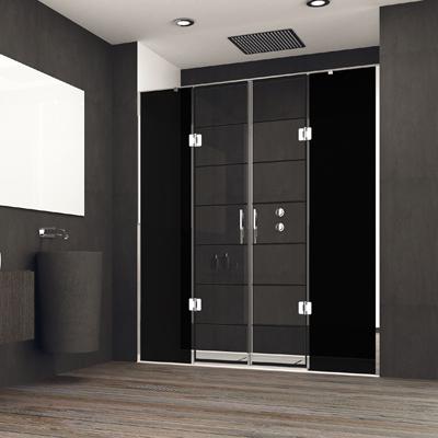 Mampara de puertas abatibles de diseño industrial