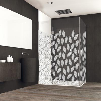 Mampara standard decoradas para baño