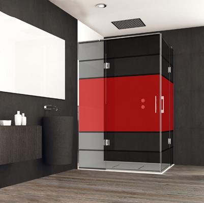 Mamparas para duchas de estilo industrial