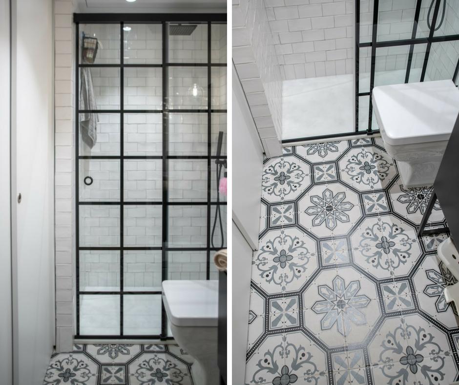 cuarto de baño estilo industrial – mampara spazia