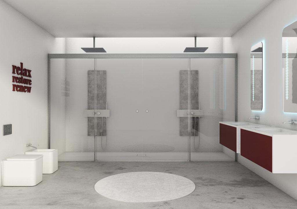 mamparas de baño para duchas dobles